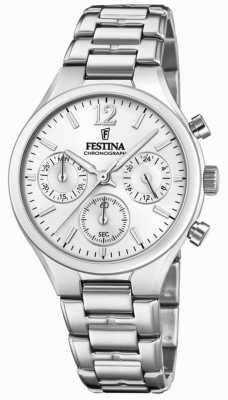 Festina 女式男友计时码表不锈钢 F20391/1