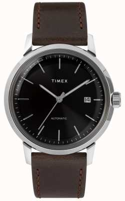 Timex 马林自动|棕色皮表带| TW2T230007U