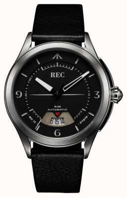 REC Spitfire自动黑色皮表带(免费表带/笔记本) RJM-01