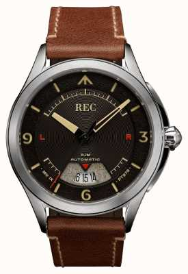 REC Spitfire自动棕色皮表带(免费表带/笔记本) RJM-02