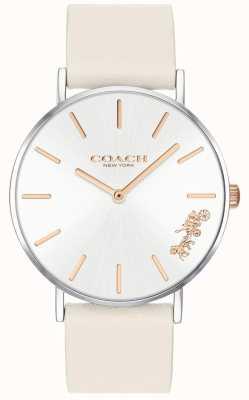 Coach 女式佩里手表|粉笔白色皮革|白色表盘 14503117
