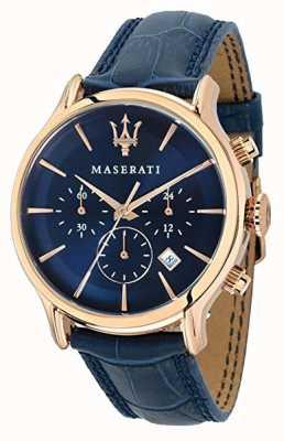 Maserati 男士epoca 42mm |蓝色表盘|蓝色皮革表带 R8871618007