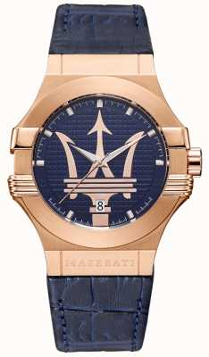 Maserati 男士potenza 42mm |镀金表壳|蓝色表盘 R8851108027
