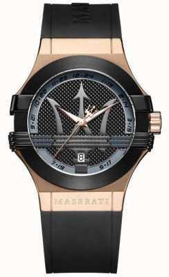 Maserati 男士潜在类似物|黑色表盘|黑色皮革表带 R8851108002