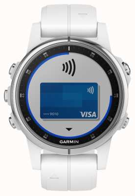 Garmin Fenix 5s加蓝宝石白色搭配白色橡胶表带 010-01987-01