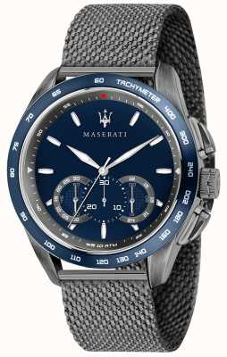 Maserati 男士traguardo 45毫米|蓝色表盘|灰色网状手链 R8873612009