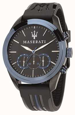 Maserati 男士traguardo计时码表|蓝色表盘|黑色硅胶 R8871612006