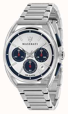 Maserati 男士trimarano 41毫米|银色/蓝色表盘|不锈钢 R8873632001
