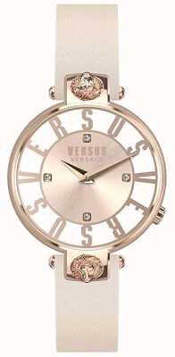 Versus Versace |女士|克里斯滕霍夫|粉色表盘|粉色皮革表带| VSP490318