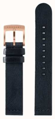 Kronaby 仅18毫米深蓝色皮革表带 A1000-0576