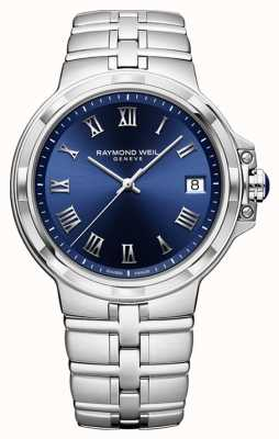 Raymond Weil Parsifal经典蓝色表盘手表 5580-ST-00508
