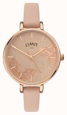 Limit |女士秘密花园手表| 高分辨率照片| CLIPARTO桃花蝴蝶表盘| 60014
