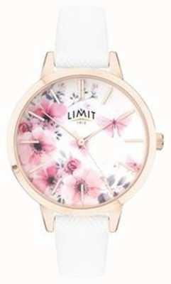 Limit |女性秘密花园手表|粉色和白色花卉表盘| 60021