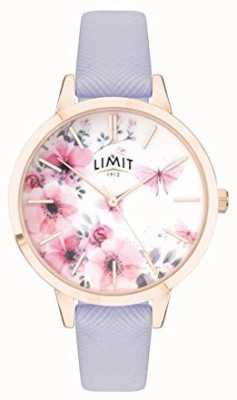 Limit |女性秘密花园手表|粉色和白色表盘|紫色的strp 60022