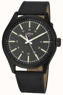 Limit |男士|黑色皮革表带|黑色表盘| 5948.01