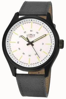 Limit |男士|黑色皮革表带|白色表盘| 5949.01