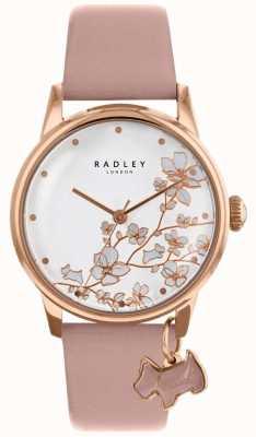 Radley 女装|尾随花|粉色皮革表带 RY2692