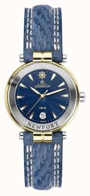 Michel Herbelin 女装newport蓝色表带镀金 14255/T35