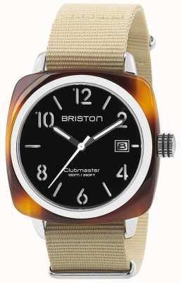 Briston Hms日期钢40乌龟醋酸黑色表盘 13240.SA.T.1.NK