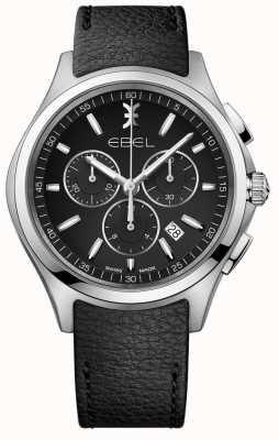 EBEL |男士计时手表|黑色皮革表带| 1216343