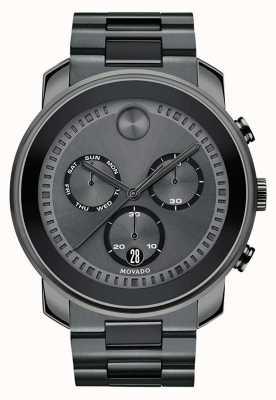 Movado |男士大胆的计时手表|青铜灰钢| 3600486