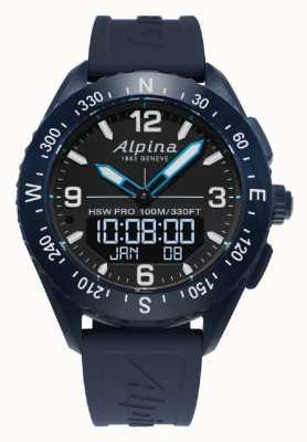 Alpina |高山 |智能手表 |蓝色橡胶表带| AL-283LBN5NAQ6