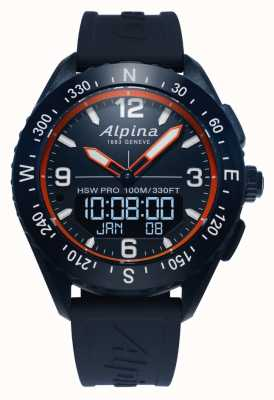 Alpina |高山 |智能手表 |蓝色橡胶表带| AL-283LNO5NAQ6