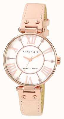 Anne Klein |女式签名手表|裸色皮革| 10-N9918RGLP
