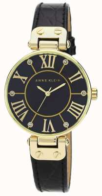 Anne Klein |女式签名手表|黑色和金色| AK/N1396BMBK