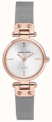 Anne Klein |女士电缆手表|银色调| AK-N3003SVRT