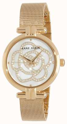Anne Klein |女式花表|金色调| AK/N3102MPGB