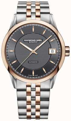 Raymond Weil |男士自由职业者手表|不锈钢和玫瑰金| 2740-SP5-60021