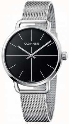 Calvin Klein |女性甚至中等不锈钢网|黑色表盘| K7B21121