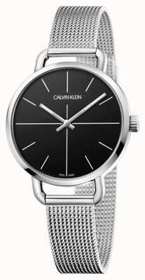 Calvin Klein |甚至看|不锈钢网带|黑色表盘| K7B23121