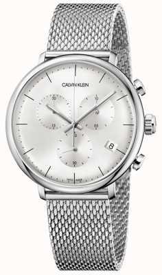 Calvin Klein  男士高中午不锈钢表带 银色表盘  K8M27126