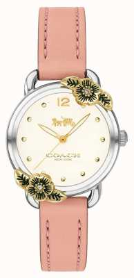 Coach |女式手表|粉红色皮革和不锈钢| 14503239