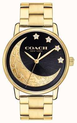 Coach |女士盛大腕表|金色与脸上的月亮细节| 14503278