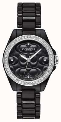 Coach |现代运动手表|黑脸|黑色表带| 14503255