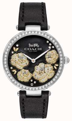Coach |女子公园表|黑色皮革表带黑色表盘 14503283