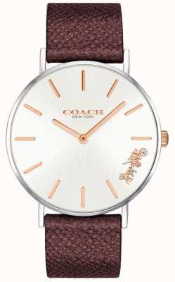 Coach |女士佩里手表|红色皮革表带| 14503154