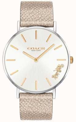 Coach |女士佩里手表|奶油表带| 14503157