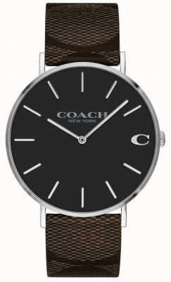 Coach |男士查尔斯手表|棕色皮革表带| 14602156