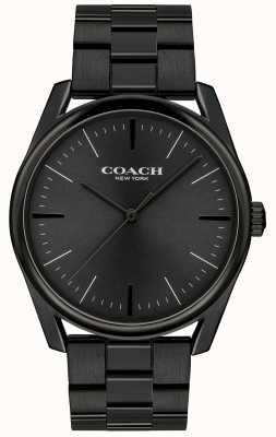 Coach 男士现代豪华黑色不锈钢 14602403