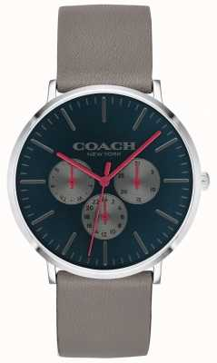 Coach |男士varick手表|计时码表米色表带黑色表盘| 14602390