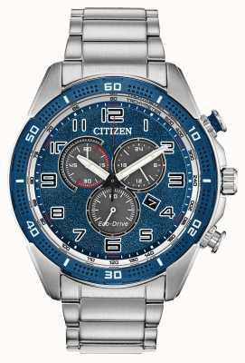 Citizen 男士驾驶AR生态驾驶蓝色表盘手表 AT2440-51L