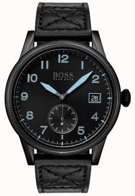 Boss |男装黑色遗产|黑色不锈钢| 1513672