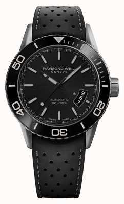 Raymond Weil |男士自由职业者| greyblack橡胶表带| 2760-TR1-20001