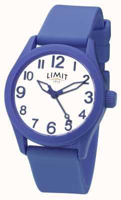 Limit |蓝色硅胶表带|白色表盘| 5719