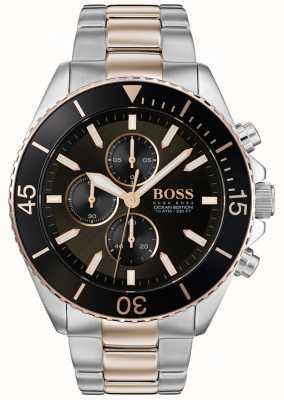 Hugo Boss |男装海洋版|双色不锈钢|黑色表盘 1513705