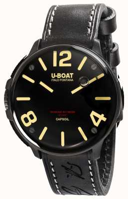 U-Boat Capsoil dlc机电黑色皮表带 8108